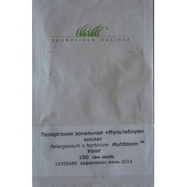 Мультиблум F1 бело-фиолет. семена пеларгонии (Syngenta)