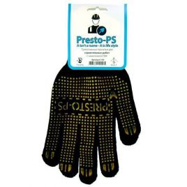 Перчатки 103CHG черно-желтые трикотажные для строительных работ (Presto-PS) НЕТ ТОВАРА