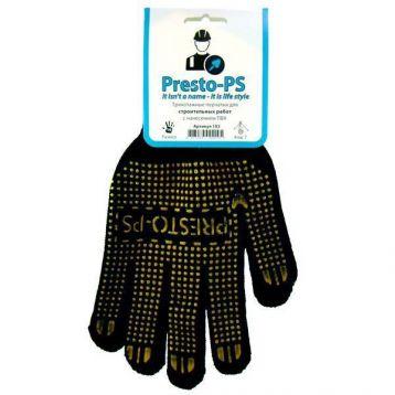 Перчатки 103CHG черно-желтые трикотажная для строительных работ (Presto-PS)