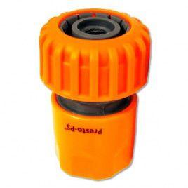 Коннектор оранжевый 5819 для шланга диаметром 3/4 б/ст (Presto-PS)