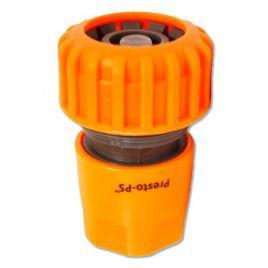 Коннектор оранжевый 5820 со стопом для шланга диаметром 3/4 б/ст (Presto-PS)
