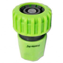 Коннектор зеленый 5820G со стопом для шланга диаметром 3/4 б/ст (Presto-PS)
