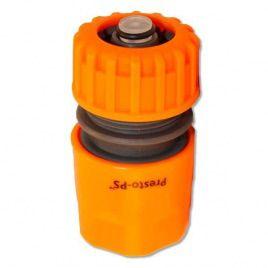 Коннектор оранжевый 5810 со стопом для шланга диаметром 1/2 б/ст (Presto-PS)