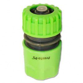 Коннектор зеленый 5810G со стопом для шланга диаметром 1/2 б/ст (Presto-PS)
