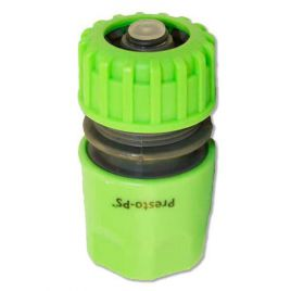 Коннектор зеленый 5810G со стопом для шланга диаметром 1/2 б/ст (Presto-PS) НЕТ ТОВАРА