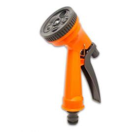 Пистолет для полива оранжевый 7209 пластик на 5 режимов (Presto-PS)