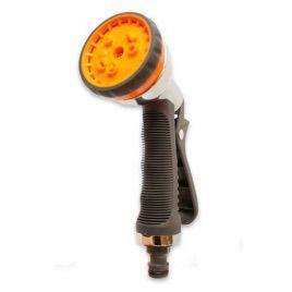 """Пистолет для полива JOY 7204D металлический на 8 режимов """"chrome"""" (Presto-PS)"""