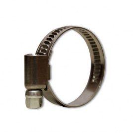 Хомут нержавеющий под отвертки для шлангов диаметром 25-45 мм. (Presto-PS)