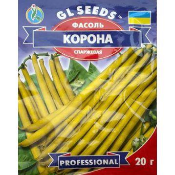 Корона желтая семена фасоли спаржевой кустовой ранней 55-60 дн. желт./бел. (GL Seeds)