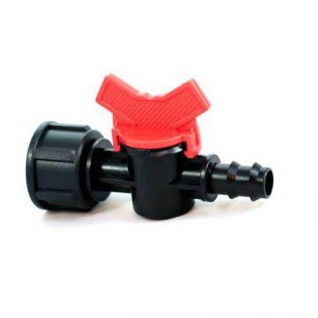 Кран с 3/4 внутренней резьбой для трубки d-16 мм (Presto-PS)