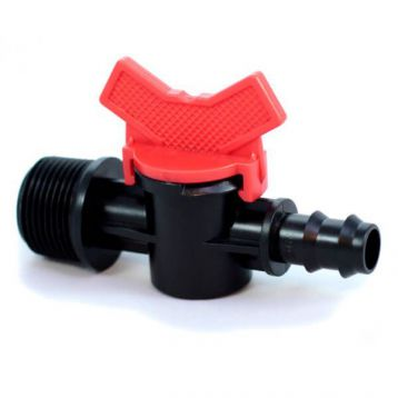 Кран с 3/4 наружной резьбой для трубки d-16 мм (Presto-PS)