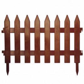 Забор терракот пластмассовый на 4 секции