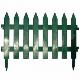 Забор темно-зеленый пластмассовый на 4 секции НЕТ ТОВАРА