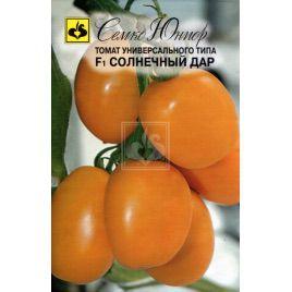 Солнечный Дар F1 семена томата дет. среднераннего слив. желт. (Семко)