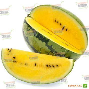 Оранж Кинг F1 семена арбуза тип Кримсон свит ультрараннего 55-60 дн. 8-12 кг желт. опылитель окр. (NongWoo Bio)