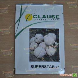 Суперстар F1 семена дыни тип Итальянская сетчатая ранней 60-65 дн. 1,6-2,3 кг окр. (Clause)