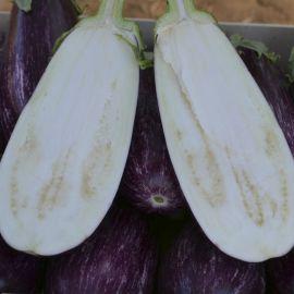 Рико F1 семена баклажана тип Алмаз раннего 85-95 дн. 450 гр. 12-20 см овал.-цил. полос. (Lark Seed)