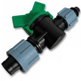 Старт-коннектор лента/соединение для трубки с поджимной гайкой и миникраном (Bradas)