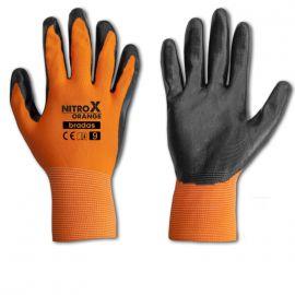 Перчатки защитные Nitrox Orange нитрил (Bradas)
