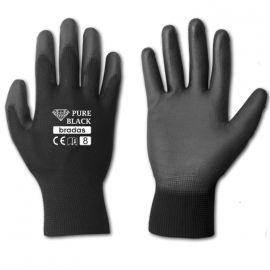 Перчатки защитные Pure Black полиуретан (Bradas)