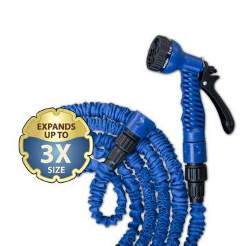 Шланг растягивающийся для полива TRICK HOSE (5-15 / 7,5-22) голубой (Bradas)