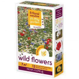 Дикие цветы на 7 кв. м семена цветочной смеси (Nova Flore)