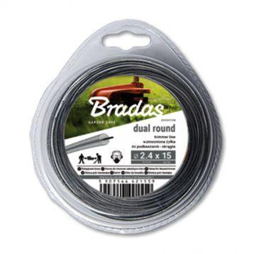Жилка (леска) для триммера RIPPER DUAL с метал.сердцевиной круглый переплет 15м (Bradas)