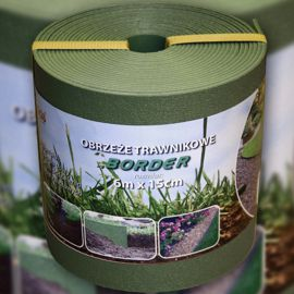 Бордюр для клумбы BORDER ровный зеленый 6м х 15см х 2,8см (Bradas)