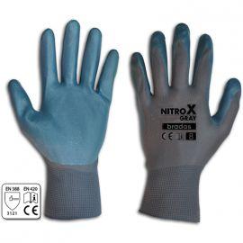 Перчатки защитные Nitrox Gray нитрил (Bradas)