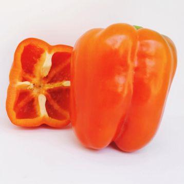 Эклер F1 (Еклер F1) семена перца сладкого тип Калифорнийское чудо куб 280-320г 10х9 см 4-х камер 6-8 мм оранж (Ergon seeds)