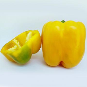 Вида F1 семена перца сладкого тип Калифорнийское чудо куб 290-330г 12х11 см 3-4-х камер 7-8 мм желт (Ergon seeds)