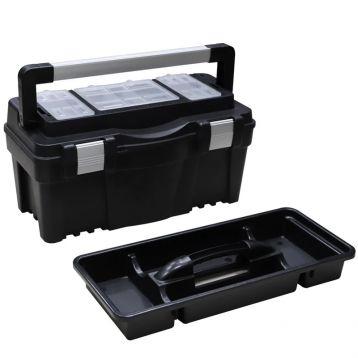 """Ящик для інструменту пластмасовий 22"""", металева засувка, 550x267x277 мм (арт. 52-548) (Berg)"""