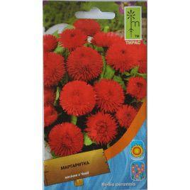 Маргаритка помпоновидная красная семена (Moravoseed)