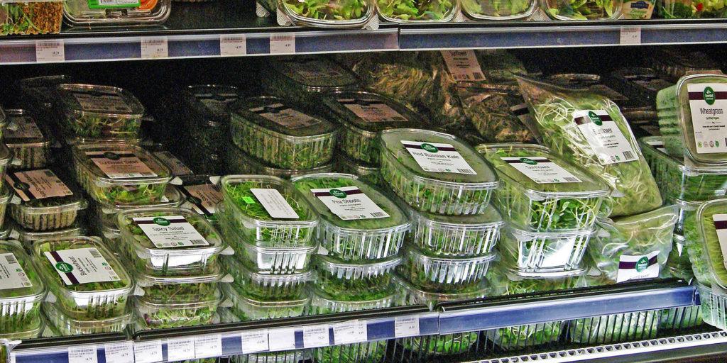 микрозелень в супермаркете